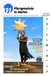 Pfarrbrief Januar 2014 - Kath. Kirchengemeinde St. Marien ...