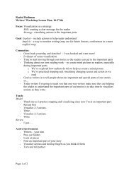 Page 1 of 2 Rachel Rothman Writers' Workshop Lesson Plan, 10-27 ...