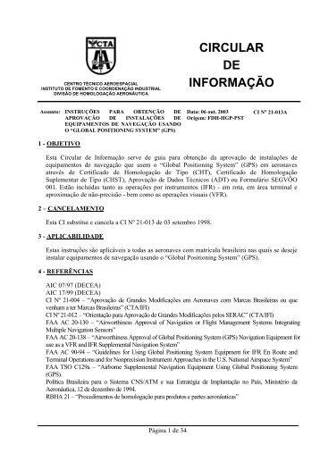 CIRCULAR DE INFORMAÇÃO - Anac