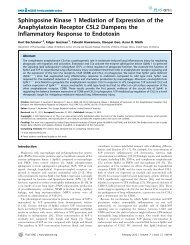 Sphingosine Kinase 1 Mediation of Expression of the Anaphylatoxin ...