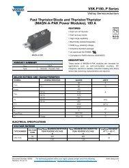 Fast Thyristor/Diode and Thyristor/Thyristor (MAGN-A-PAK Power ...