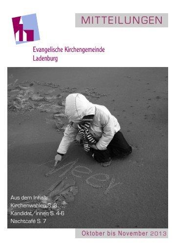 Mitteilungen Okt-Nov 2013 - Evangelische Kirchengemeinde ...