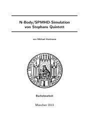 N-Body/SPMHD-Simulation von Stephans Quintett - Universitäts ...