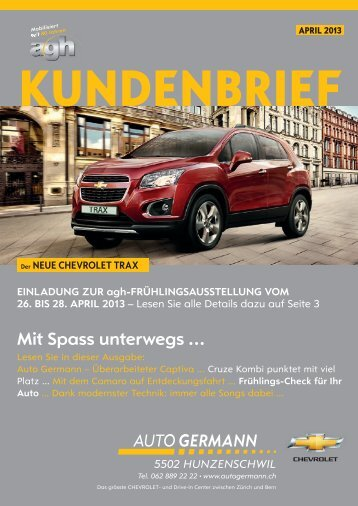 Mit Spass unterwegs ... - Auto Germann