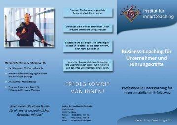 """Flyer """"Business-Coaching für Unternehmer und Führungskräfte"""""""