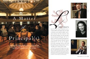 A M a t t e r - Phillips Exeter Academy