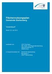 Flächennutzungsplan - Gemeinde Starkenberg