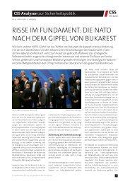 Risse im Fundament: Die NATO nach dem Gipfel von Bukarest