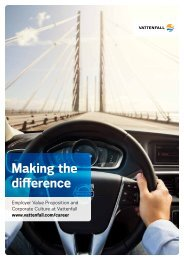 Making the difference - Vattenfall