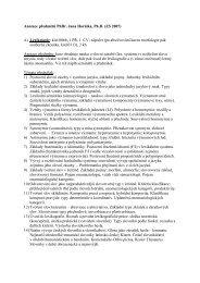 Anotace předmětů ZS - UJEP