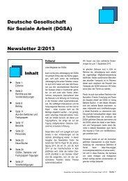 steht der Newsletter 2/2013 zum Download bereit - DGSA