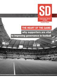 why supporters are vital to improving ... - Supporters Direct