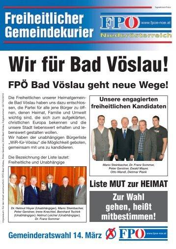 FPÖ Bad Vöslau geht neue Wege! - FPÖ.at
