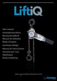 LiftiQ Lever Hoist - User manual 110705-A.indd - Gunnebo Industries