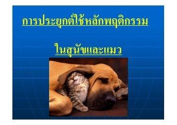 บทที่ Dog&Cat Behaviors