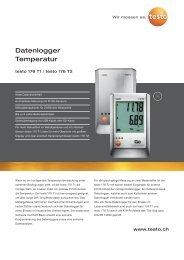 Datenlogger Temperatur - testo AG