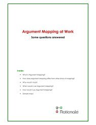 Argument Mapping at Work 2013 - Reasoninglab