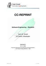 Software Engineering - Überblick - CC GmbH