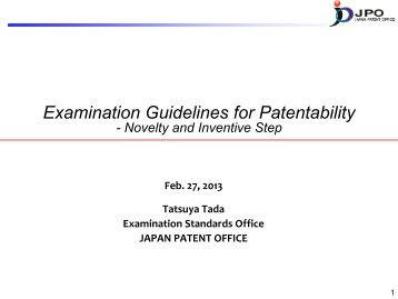 Examination Guidelines for Patentability - WIPO