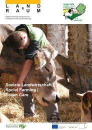 L a n d R a u m - Therapie | Soziale Arbeit am Bauernhof