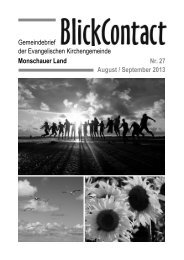 August / September 2013 - Evangelische Kirchengemeinde ...