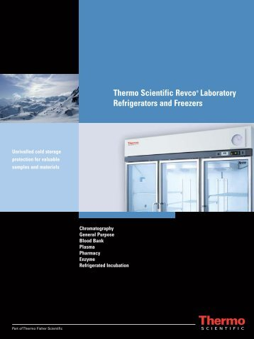 Thermo Scientific Revco® Laboratory Refrigerators ... - Concessus