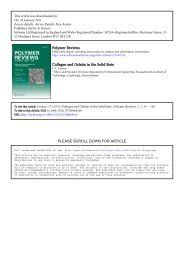 Polymer Reviews Collagen and Gelatin in the Solid State