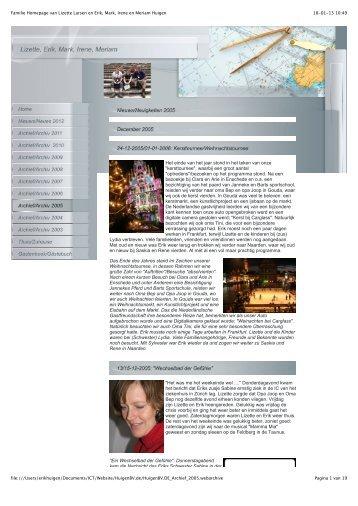 Familie Homepage van Lizette Larsen en Erik ... - Familie website