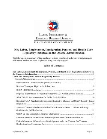 Key Labor, Employment, Immigration, Pension, and Health Care ...