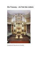 Die Trauung – ein Fest des Lebens - evangelische Kirche Gersfeld