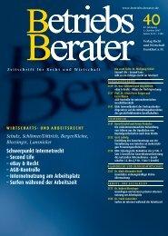 Schwerpunkt Internetrecht – Second Life – eBay & Recht – AGB ...