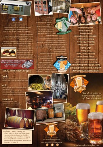 Download our brochure - Hershey Harrisburg Craft Beer Country