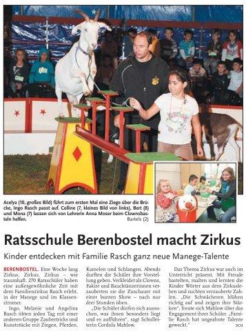 Zirkus Rasch - Ratsschule Berenbostel