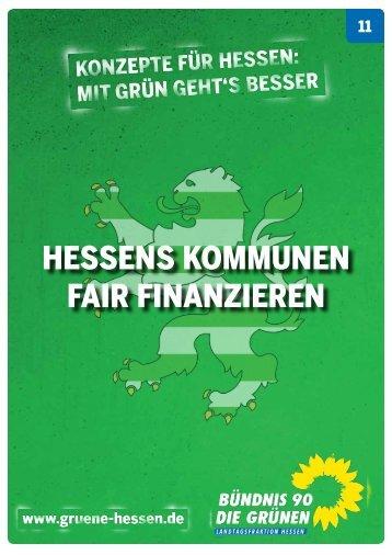 Hessens Kommunen fair finanzieren - Bündnis 90/Die Grünen Hessen