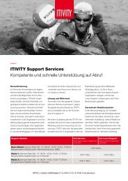 Factsheet Support Services - ITIVITY Passion for IT