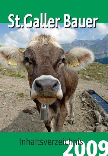 Inhaltsverzeichnis - St.Galler Bauernverband