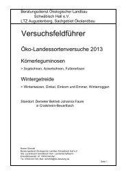 Versuchsfeldführer - LTZ Augustenberg
