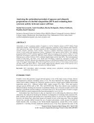Analyzing the antioxidant potential of aqueous and ethanolic ...