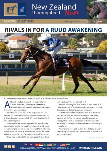 rivals in for a ruud awakening - New Zealand Thoroughbred Marketing