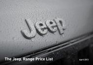 The Jeep® Range Price List - Marlborough