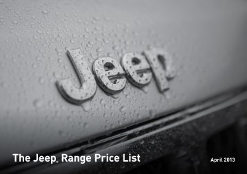 The Jeep® Range Price List - Marlborough