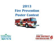 2007 Fire Prevention Poster Contest - Clark County Fire District 6