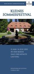 Kleinen Sommerfestival 2013 - Remise Schloß Fußberg