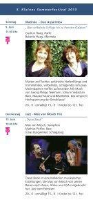 Kleinen Sommerfestival 2013 - Remise Schloß Fußberg - Seite 6