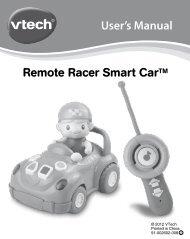 User's Manual Remote Racer Smart CarTM - VTech