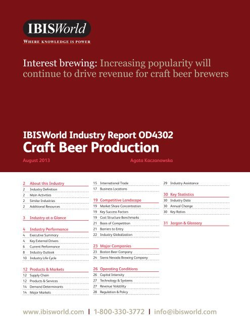 Craft Beer Production - The Business Journals