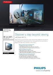32PFL4208K/12 Philips LED TV with Digital ... - High Tech Freakz