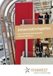 Broschüre Johanniskirchgärten - Vivawest Wohnen GmbH