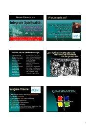 5 - Integrale Spiritualität - Integrales Forum