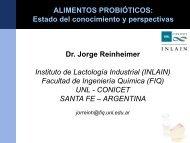 Dr. Jorge Reinheimer Alimentos probióticos - ASSAl